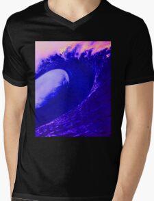 Abstract Wave Mens V-Neck T-Shirt