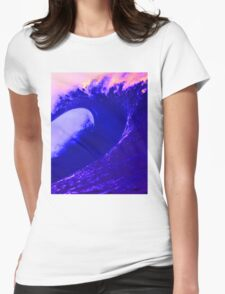 Abstract Wave Womens Fitted T-Shirt