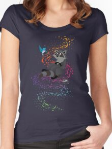 Adorable Little Raccoon  Women's Fitted Scoop T-Shirt