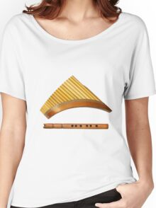two traditional wooden flutes Women's Relaxed Fit T-Shirt