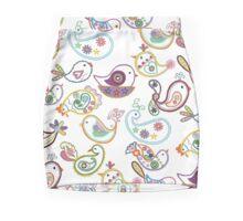 Paisley flock Mini Skirt