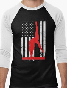 Gymnastic Flag Day Memorial T-shirt Men's Baseball ¾ T-Shirt