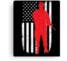 Army Soldier Flag Day Memorial T-shirt Canvas Print