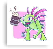 Beer Loving Murloc Canvas Print