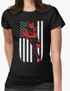 Rugby Player Flag Day Memorial T-shirt Womens Fitted T-Shirt