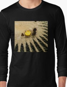 Fascinating Cactus Bloom - Soft and Fragile Among the Thorns Long Sleeve T-Shirt