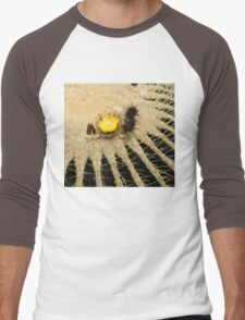 Fascinating Cactus Bloom - Soft and Fragile Among the Thorns Men's Baseball ¾ T-Shirt