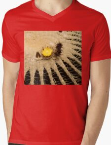 Fascinating Cactus Bloom - Soft and Fragile Among the Thorns Mens V-Neck T-Shirt