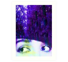Eyes in the Forest Art Print