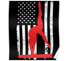 Gymnastic Flag Day Memorial T-shirt Poster