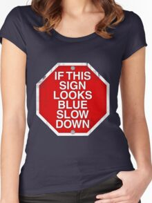 A physics joke. Women's Fitted Scoop T-Shirt