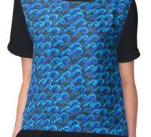 watercolor blue wave pattern Chiffon Top