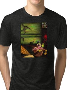 Insects Eating Carnival Scraps Tri-blend T-Shirt
