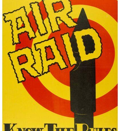 Air Raid - Know the Rules Sticker