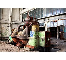 Machinery in heating plant Photographic Print