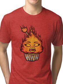 Fiery Cupcake Tri-blend T-Shirt