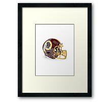 Redskins Helmet Framed Print