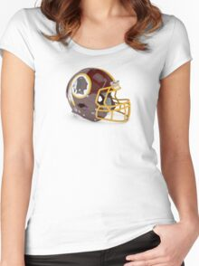 Redskins Helmet Women's Fitted Scoop T-Shirt