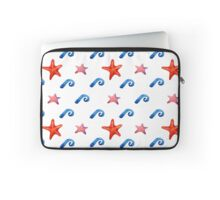 watercolor blue wave pattern Laptop Sleeve