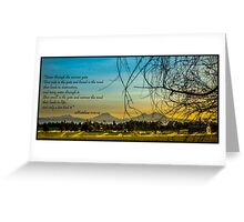 Bible Verse Matthew 7:13-14 Greeting Card