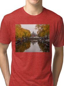 Autumn in Amsterdam - Colorful Symmetrical Stillness Tri-blend T-Shirt
