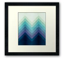 Retro Chevrons 001 Framed Print