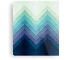 Retro Chevrons 001 Metal Print