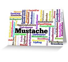 Hipster Mustache Word Cloud Collage Greeting Card