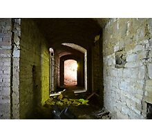 Basement hallway in german villa Photographic Print