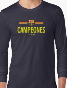 Barcelona Campeones Long Sleeve T-Shirt