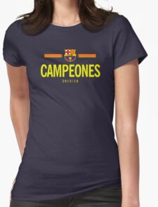 Barcelona Campeones Womens Fitted T-Shirt