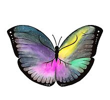 Space Butterfly Photographic Print