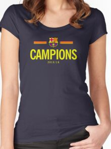 Barcelona Campions catalan Women's Fitted Scoop T-Shirt