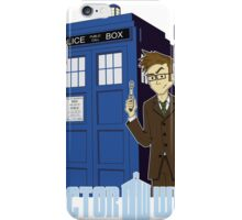 Dr Who Animated (no background) iPhone Case/Skin