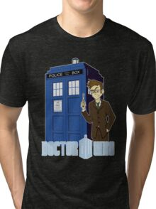 Dr Who Animated (no background) Tri-blend T-Shirt