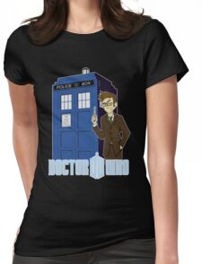Dr Who Animated (no background) Womens Fitted T-Shirt