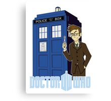 Dr Who Animated (no background) Canvas Print