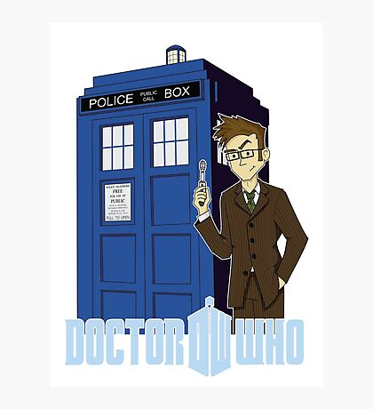Dr Who Animated (no background) Photographic Print