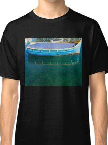 Crystal Clear Mediterranean Blue - Sea Boy at Anchor Classic T-Shirt