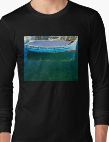 Crystal Clear Mediterranean Blue - Sea Boy at Anchor Long Sleeve T-Shirt
