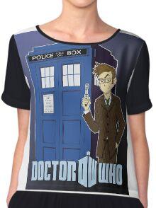 Doctor Who Animated Chiffon Top