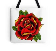 Neotraditional Rose in Red Tote Bag