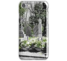 Green grave iPhone Case/Skin