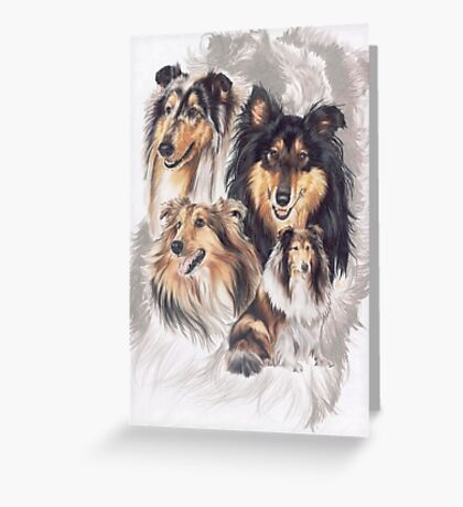 Collie /Ghost Greeting Card