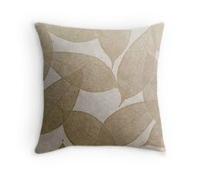 Brown Leaves Throw Pillow