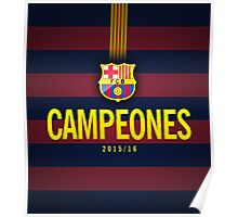 Barcelona Campeones Poster