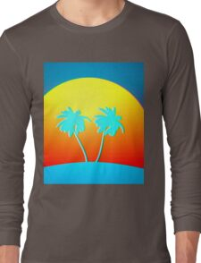 Psychedelic Palms Long Sleeve T-Shirt