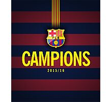 Barcelona Campions catalan Photographic Print