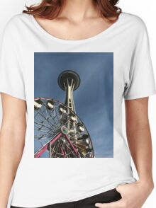Space Needle & Ferris Wheel Women's Relaxed Fit T-Shirt