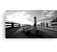 Friends shouldn't bring you down so low when you just want to be happy Canvas Print
